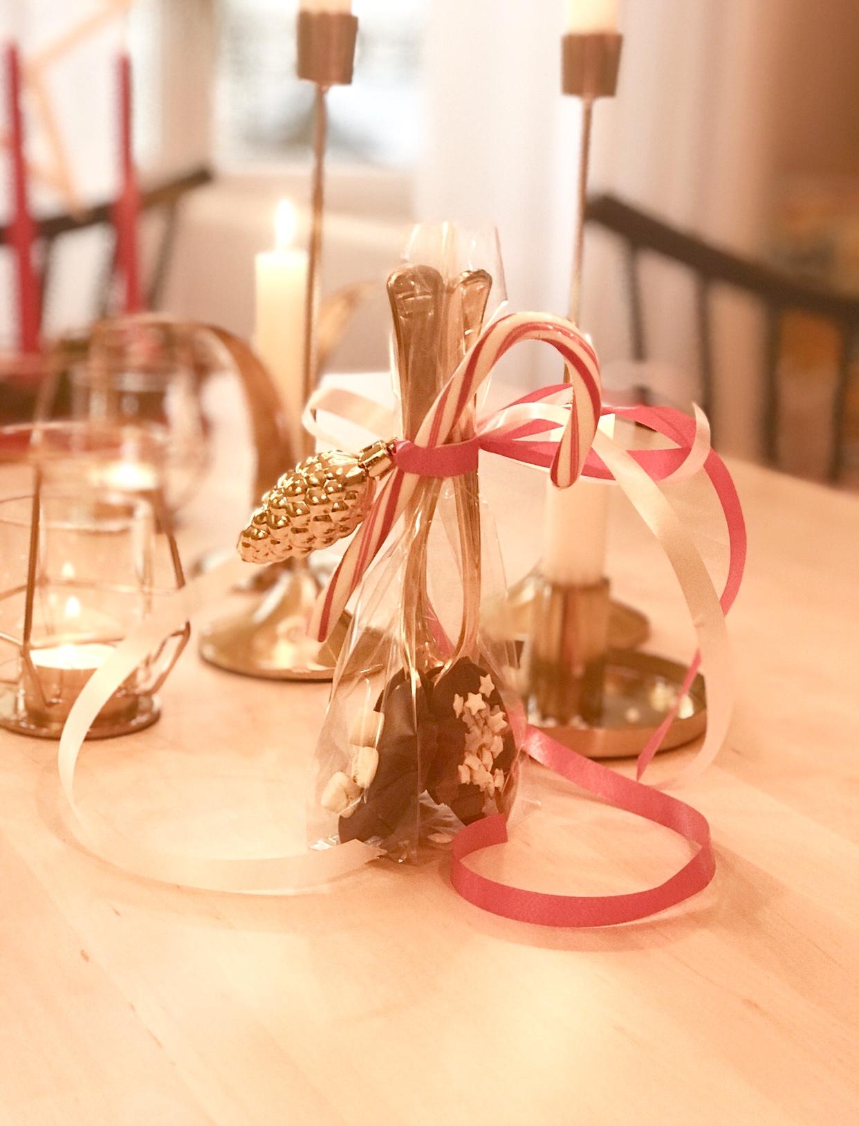 ge bort choklad i present