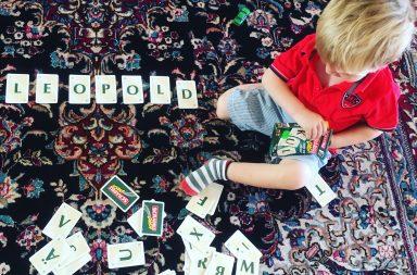 träna bokstäver