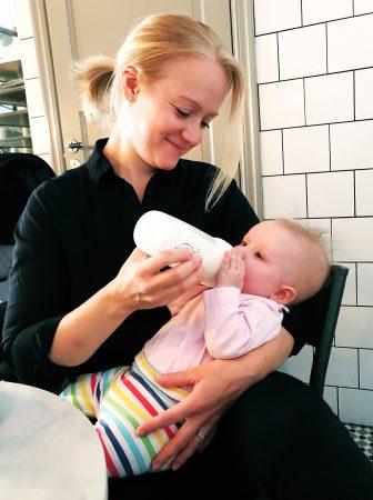 flaskmata bebis